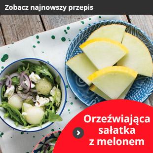 Orzeźwiająca sałatka z melonem ( 4 porcje)