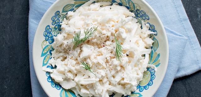 Surówka z białej rzodkwi i kalafiora